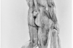 Study - act, 84.1x118.9cm, coal on paper