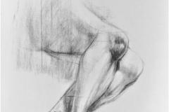 Study - act, 84.1x118.9cm, coal on paper