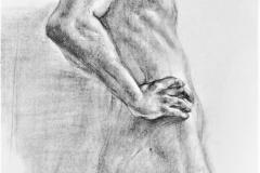 Studie - Akt, 84.1x118.9cm, Kohle auf Papier