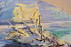 Krumme Lanke, 2009, 120x160cm, oil and tempera on nettle
