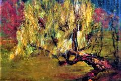 Krumme-Lanke, 2014, 100x120cm, Öl und Tempera auf Nessel