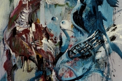 Disparates - Dementia, 2007, 160x120cm, tempera on nettle