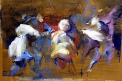 Disparates - Silence, 2006, 80x105cm, tempera on cardboard