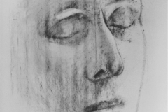Study - head, 84.1x118.9cm, coal on paper