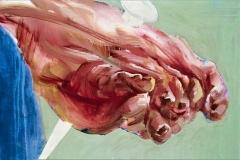 The Foot of Lightness, 2009, 115x115cm, tempera on nettle