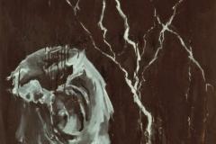 Lightning and Thunder, 2000, 80x80cm, oil on nettle