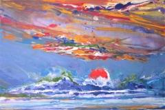 The sea inside me - the sunrise, 2011, 40x50cm, acryl and gouache on canvas
